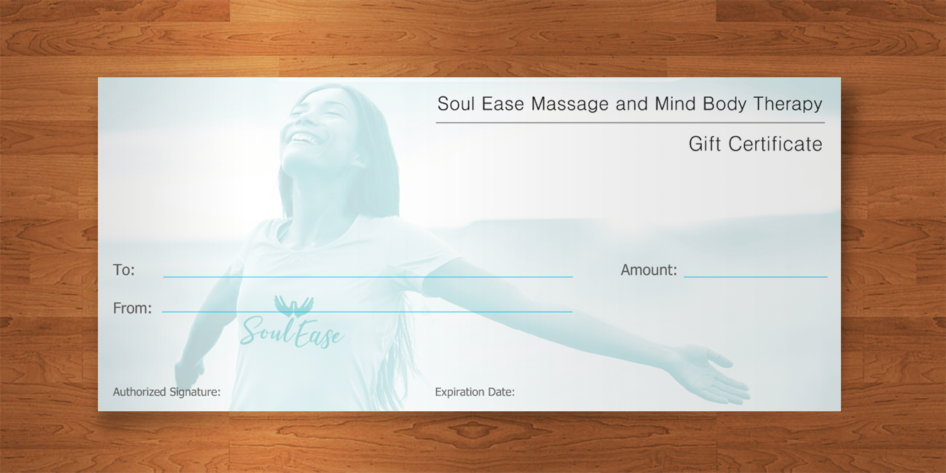Soul Ease Massage Gift Certificate